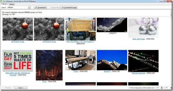 Download desktop wallpapers from Flickr