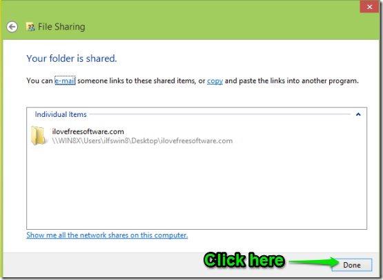 Share drive In Windows 8