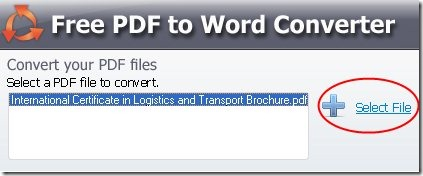 SmartSoft Free PDF To Word Converter 001