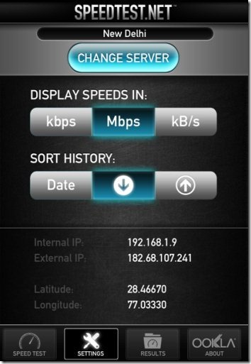 Speedtest.net Units