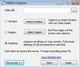 VidShot Capturer Free Screen Capture Software