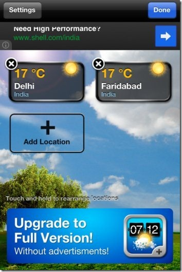 Weather  Add Location