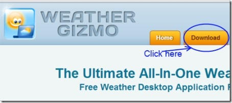 Weather Gizmo 04 free weather gadget for windows