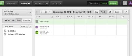 WhenIWork schedule