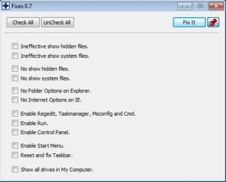 Windows Medkit fixes window
