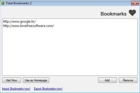 YRC Weblink bookmarks management