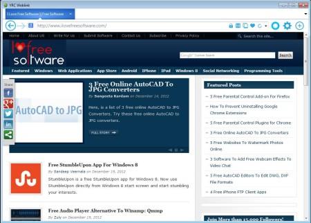 YRC Weblink free web browser default window