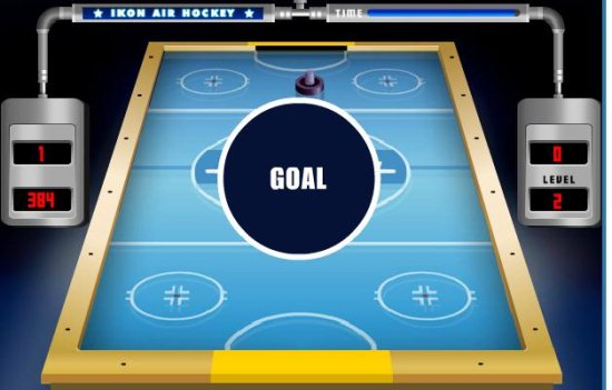 air hockey play