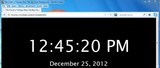 big clock background interface