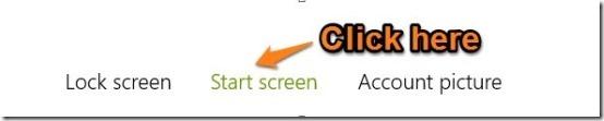 change startscreen in windows 8