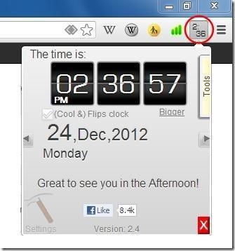 cool clock interface