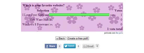create poll interface