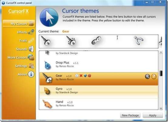 cursorfx interface