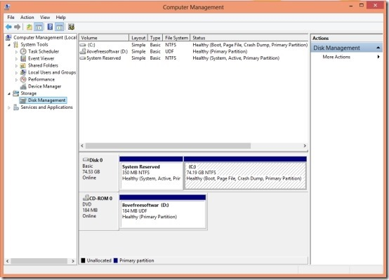 disk management options in windows 8