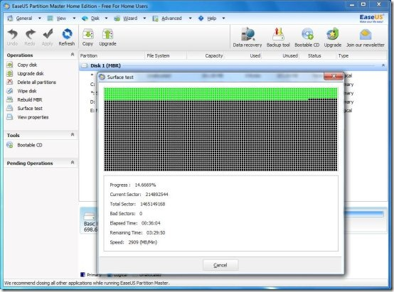 easeus partition manager interface