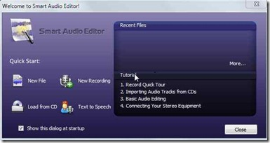 Smart Audio Editor to edit audio files
