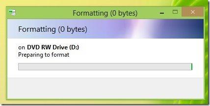 formating cd dvd in windows 8