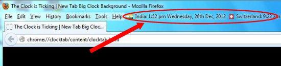 foxClocks interface