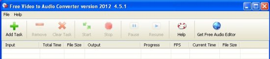 free video to audio converter interface