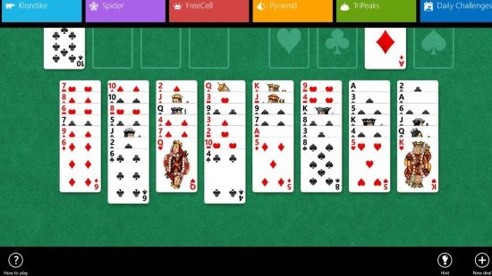windows 8 games solitaire