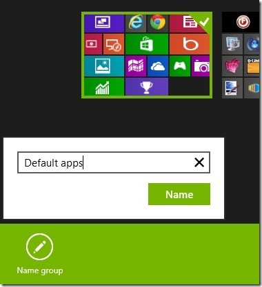 group named apps in windows 8