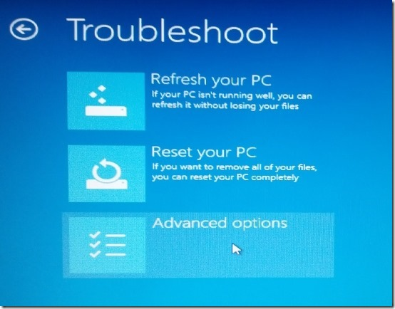 how to use recovery disc to reset password in windows 8