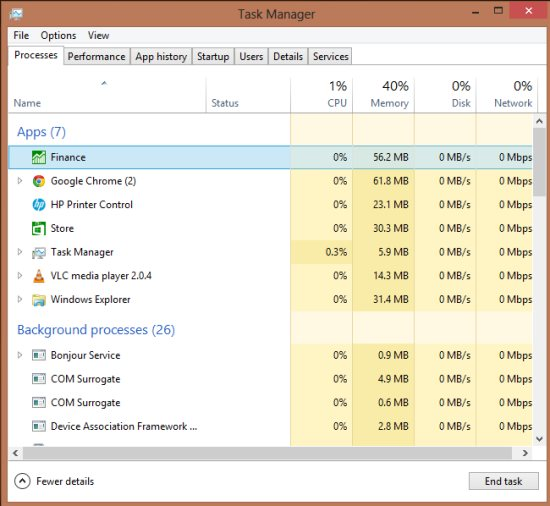 how to use task manager in windows 8