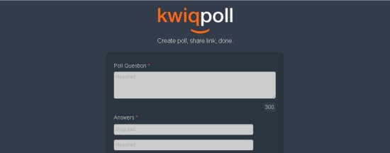 kwiqpoll interface