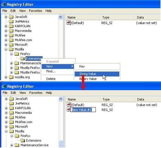 new registry key