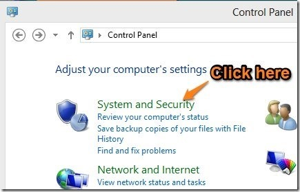 open system and security in windows 8