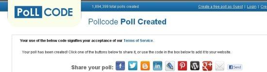 pollcode interface