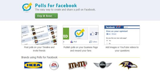 polls for facebook interface