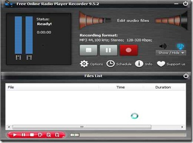 Free online radio player and recorder