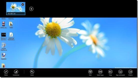 remote desktop in windows 8 app