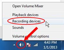 select recording devices to record Gtalk voice call