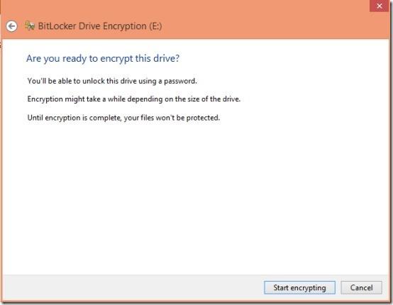 start bitlocker in windows 8