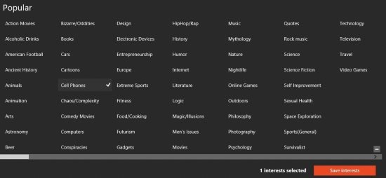 stumbleupon app for windows 8 interests