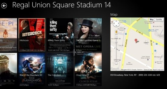 windows 8 movie showtime