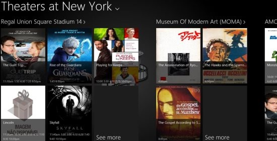 windows 8 movie theatre app