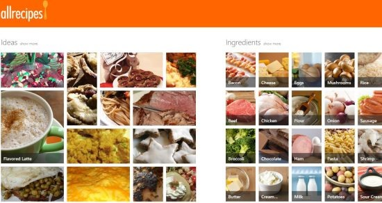 windows 8 recipe app all recipes