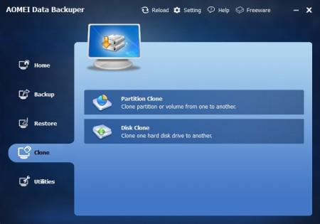 AOMEI Data Backuper partition clone disk