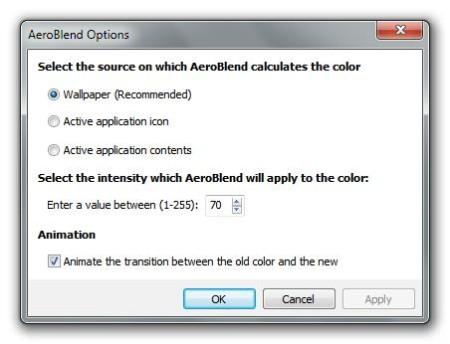 AeroBlend default window