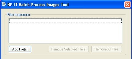 Batch Process Images Tool interface
