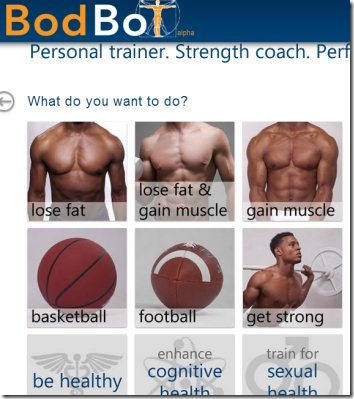 BodBot 01 online personal trainer