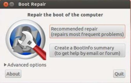 Boot-Repair default window