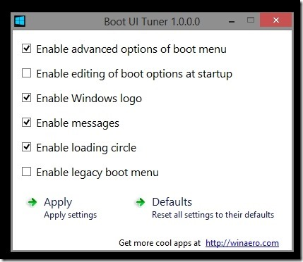 Boot UI Tuner Change Windows 8 Boot Options