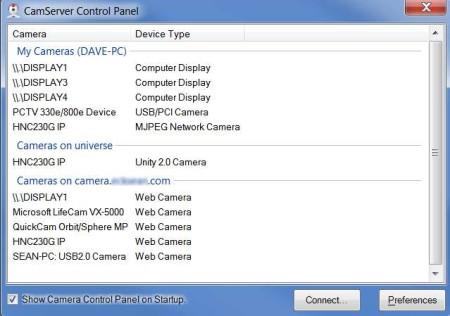 CamServer free remote access server default image