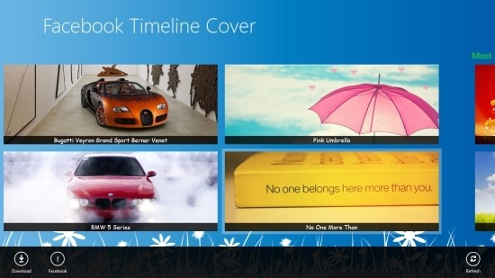 Change Your Facebook Cover Picture With Facebook Timeline Cover For Windows 8