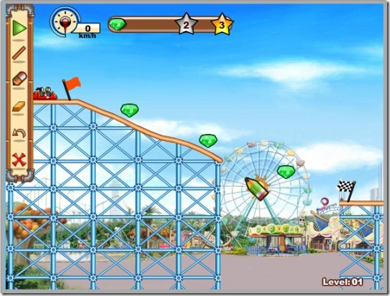 Crazy Rollercoaster 03 construction game