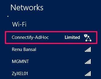Create Ad Hoc Network In Windows 8